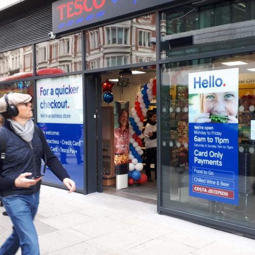 Cashless-Store von Tesco in London