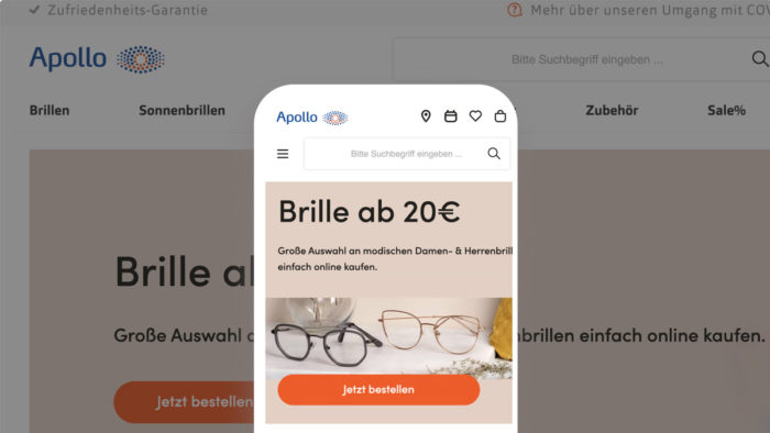 Onlineshop von Apollo