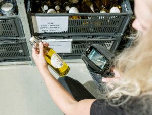 Scanning der Produkte bei Pieter Pot