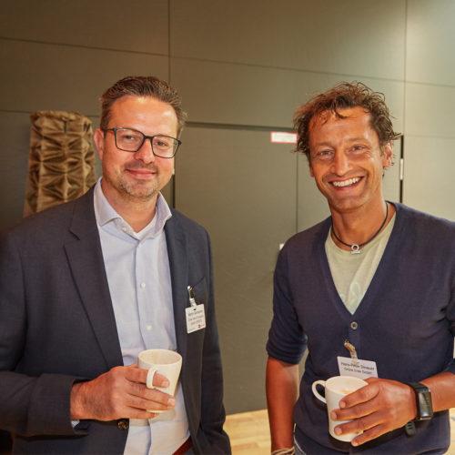 Hatten viel Freude: Martin Genheimer (Gries Deco Company) und Hans-Peter Dinauer (Grüne Erde)