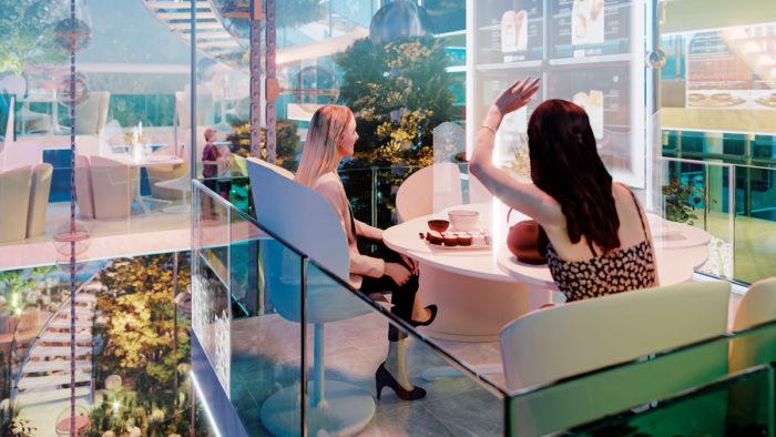 Mit Abstand und Erlebnis: So könnte ein postpandemisches Restaurant aussehen.