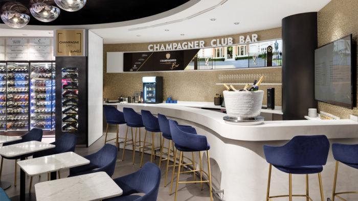 Champagner Bar im Edeka Zurheide Feine Kost im Zentrum von Düsseldorf