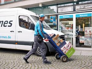 Paketzustellung an einen Shop