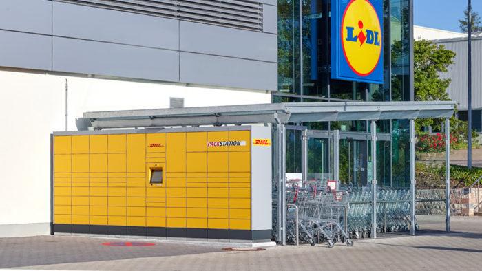 Lidl ergänzt 500 Filialen um DHL-Packstationen.