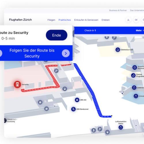 Fluggästen aus dem Schengen-Raum, die nicht die Personenkontrolle passieren müssen, wird ein alternativer Weg angezeigt.