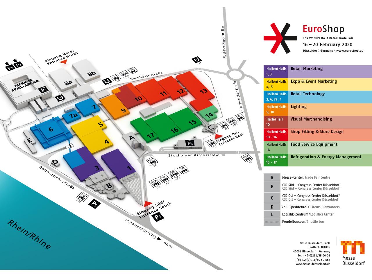 EuroShop 2020 - Lageplan Messe Düsseldorf
