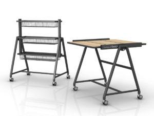 """Tisch, Regal und Präsentationstreppe: der """"YourTable Switch"""" von Wanzl"""