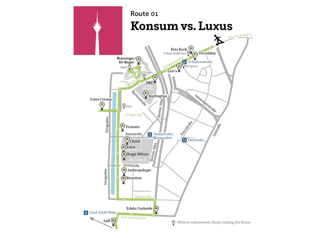 Düsseldorf – Konsum vs. Luxus
