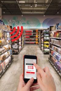 Smart Shelves: Mit Beacons ausgestattete Regale kommunizieren mit dem Smartphone des Kunden