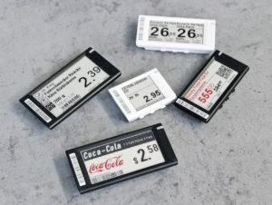 Die auf der E-Paper-Technologie basierenden Preisetiketten sind grafikfähig und mehrfarbig.