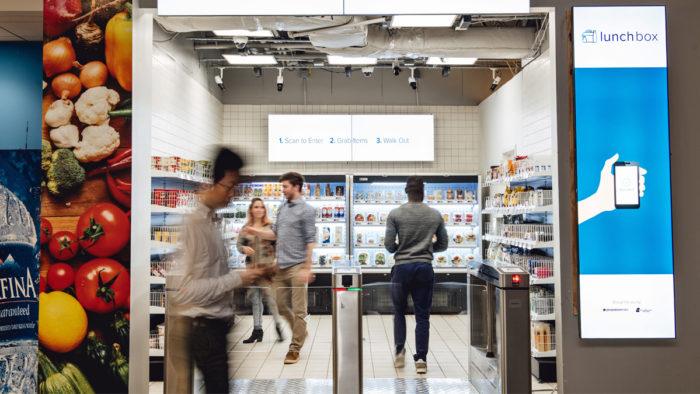"""Boxenstopp: Mit """"Lunchbox"""" testet Ahold Delhaize USA einen kassenlosen Mini-Markt für Mitarbeiter."""