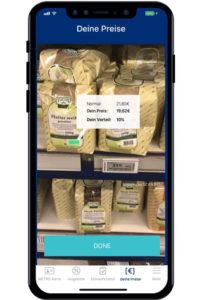"""Die Funktion """"MatrixScan"""" der Mobile App """"Metro Companion"""" erlaubt es Kunden, mehrere Barcodes gleichzeitig einzulesen und zu decodieren sowie das Scanergebnis mittels AR-Funktionen mit weiteren Produktinformationen anzureichern."""