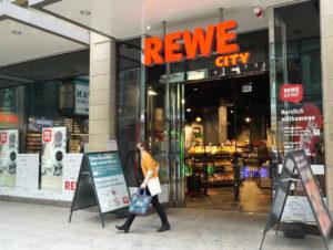 Der Rewe-City-Markt an der Zeppelinstraße in Köln