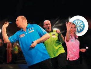 Die Dart-Champions Vincent van der Voort, Michael van Gerwen und Fallon Sherrock werden von Usedsoft unterstützt.