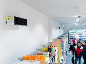 dm setzt halboffene Upper-Airsysteme in Drogeriemärkten in Slowenien ein