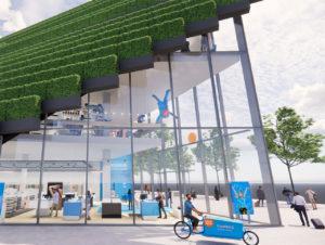 Fassade des neuen Coolblue Stores in Düsseldorf