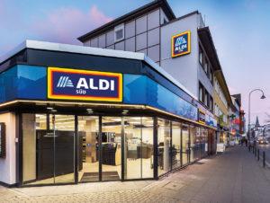 Aldi Süd kann auch klein: Die 523 qm große Filiale in Köln-Rodenkirchen wurde Ende 2018 eröffnet.