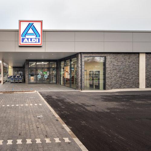 Fassade der neuen Aldi Nord-Filiale