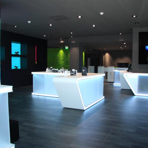 Der Store dienst als Showroom für Marketingevents, Produkt- und Kundenanalysen