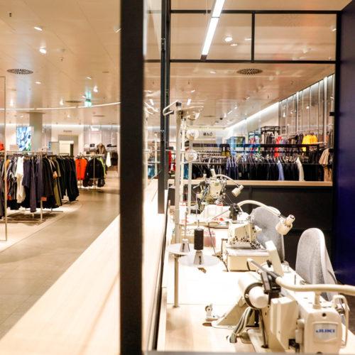 Der Store ist auf Service und Komfort für den Kunden ausgerichtet.