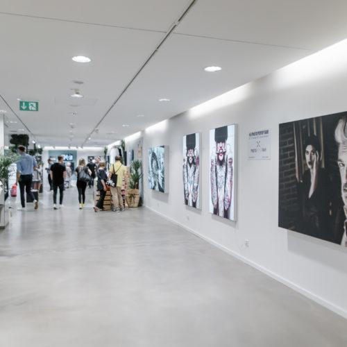 Weiße Rückwände rücken die Kunstobjekte in den Vordergrund