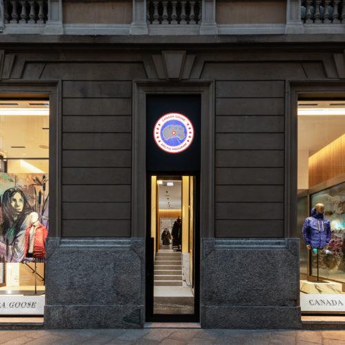 Fassade in der Via della Spiga