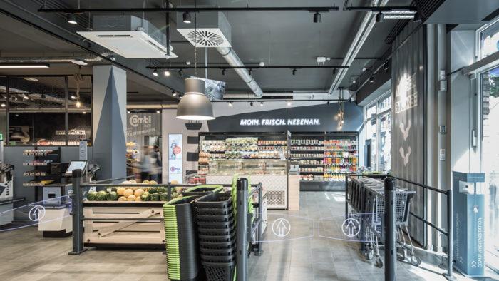 Eingangsbereich des neuen Combi City-Marktes in Oldenburg