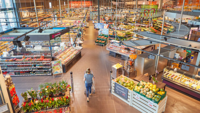 Neuer Supermarkt von Edeka Wehrmann in Hiddenhausen an der Löhner Straße