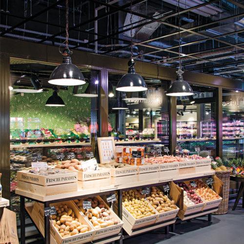 Frischeparadies Zürich: gekühlte Obst-und- Gemüse-Haus mit saisonalen Waren