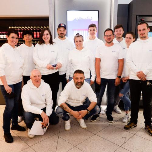 Das Team rund um Jörg Taubitz und Thomas Perdolt (u. v. l.)