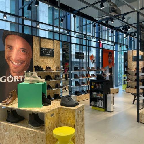 Der Ladenbau ist flexibel und kann jederzeit umgestaltet werden.