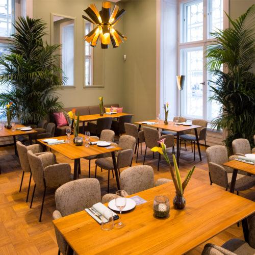 Im Restaurant Mezzanin bietet Interspar österreichische Spezialitäten – vom klassischen Wiener Schnitzel vom Ländle-Kalb bis zum Steckerlfisch vom Wolfsbarsch.  Auf der Barkarte stehen heimische Trend-Limonaden ebenso wie internationale Wein-Raritäten.