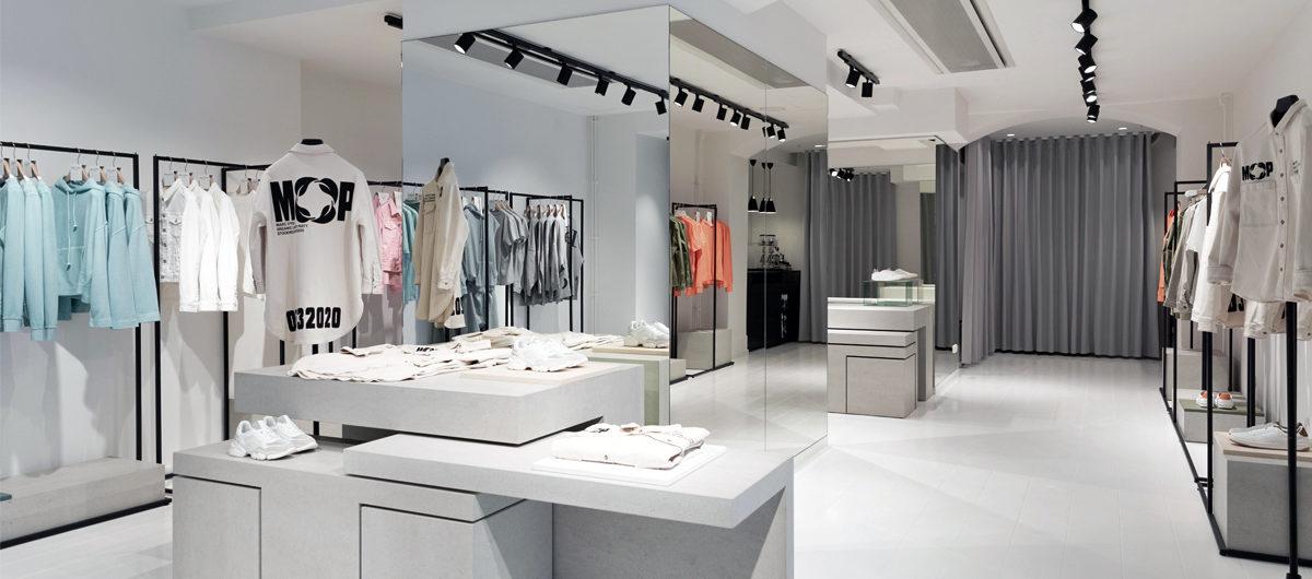 Kühles, skandinavisches Ambiente im neuen Marc O'Polo Concept Store in Stockholm