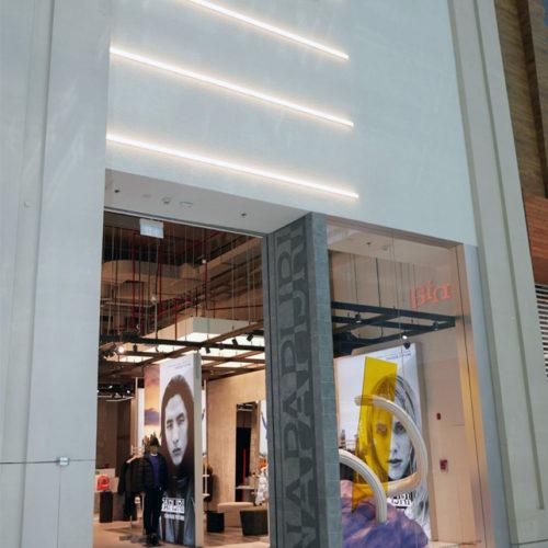 LED-beleuchtete Fassade