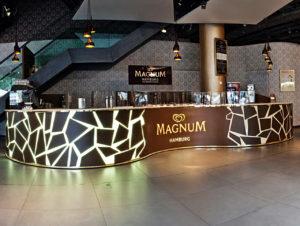 Pop-up-Infinity Lounge von Magnum
