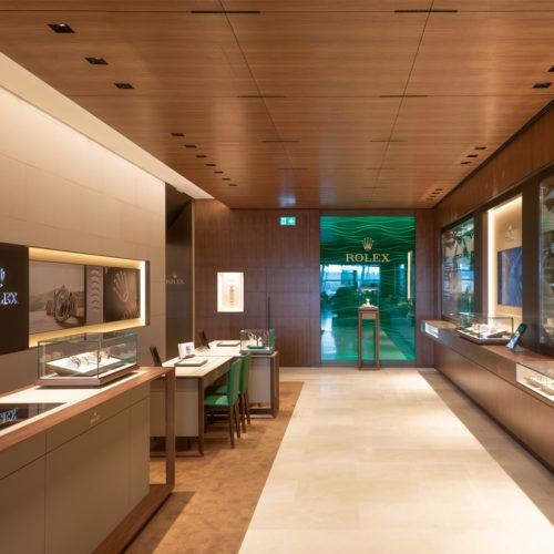 Die CI-Farben Gold und Grün dominieren bei Rolex