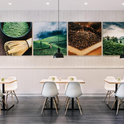 Hell und freundlich: die Tee-Lounge des neuen Store-Konzepts