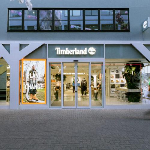 Timberland-Fassade an der Carnaby Street