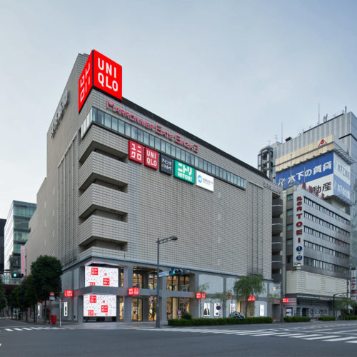 Fassade des Uniqlo-Stores im Ginza District