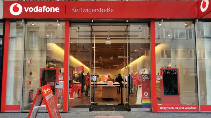 Vodafone-Store in der Kettwiger Straße in Essen