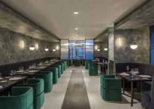 Der elegante Fine-Dining-Bereich im Zwilling Flagship-Store, Shanghai