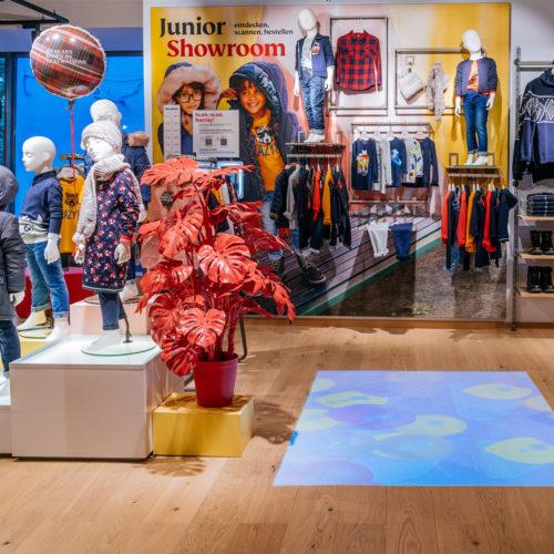 Junior-Showroom interaktiver Bodenprojektion