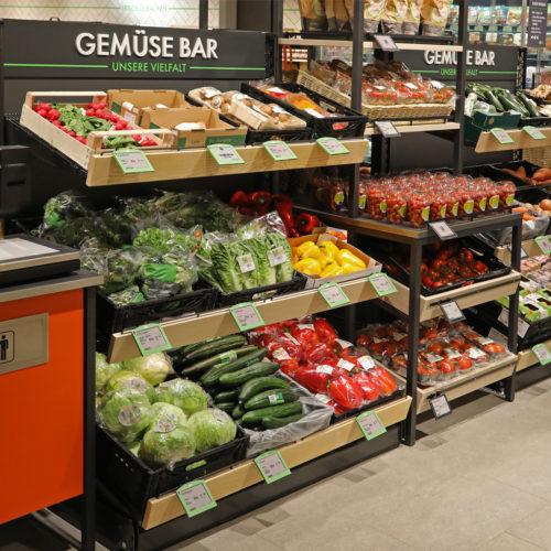 """Bei Tegut Quartier gibt es vor allem """"Bars"""", z. B. die Gemüse-Bar"""