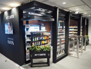Der etwa 30qm große Demo-Store von NTT Data.