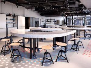 Das mit einer Küche und flexiblem Setting ausgestattete Food Lab will Food-Kultur mit allen Sinnen erlebbar machen.