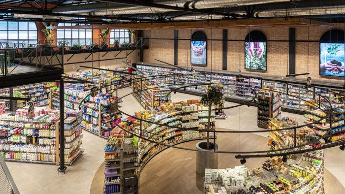 Sunka in Spanien: Markthallencharakter mit Klinkersteinen und hohen Decken.