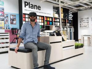 Mit VR-Brille lässt sich ein Sortiment intensiver und vielfältiger wahrnehmen.