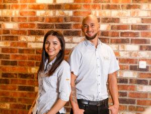 Führen das Geschäft: Blerta Keka und Daniel Stojanov