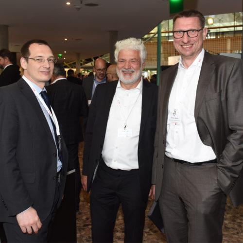 Ingo Köhler (BVR), Sören Sasse (Mastercard) und Stefan Marks (Deutscher Sparkassen Verlag)