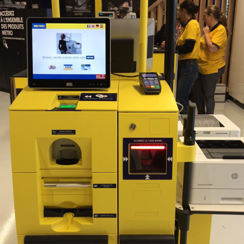Die Metro Compact Stores ermöglichen Self-Checkout. (Foto: Metro Cash & Carry France)